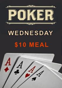 Wednesday Poker $10 Meal