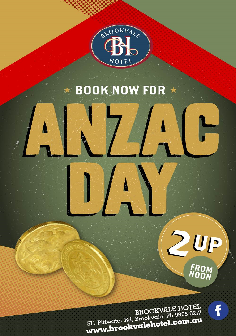 Anzac Day at The Brooky!