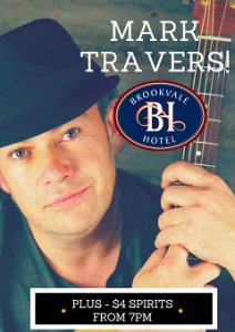 Mark Travers –  LIVE at The Brooky!
